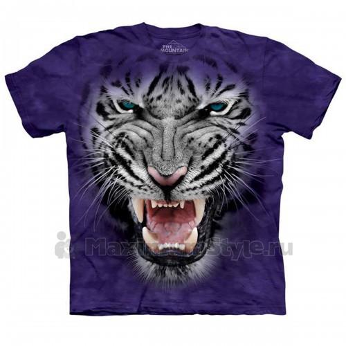 "Футболка The Mountain ""Raging Big Face White Tiger"" (десткая)"