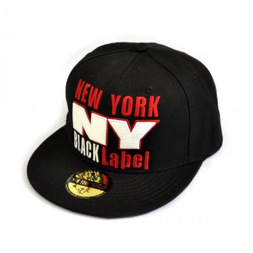 "Бейсболка рэперская ""NY"" (Black Label, black & black)"