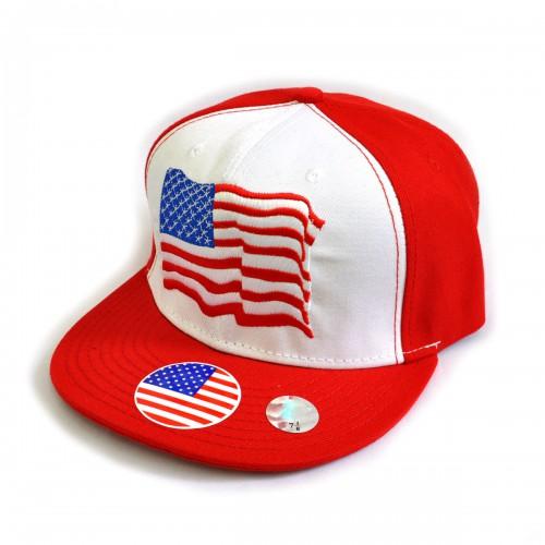 "Бейсболка рэперская ""USA"" (red)"