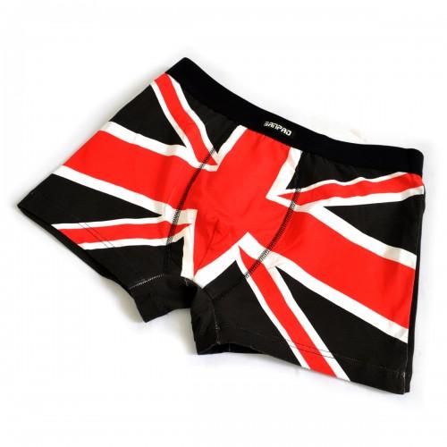 """Трусы мужские """"Британский флаг"""" (black)"""