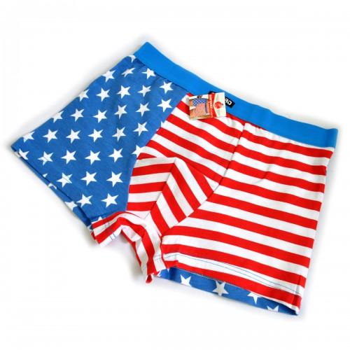 "Трусы мужские ""Флаг USA"" (l-blue)"