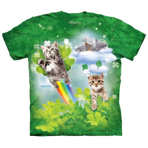 "Футболка ""Green Irish Fairy Kittens"" (США)"