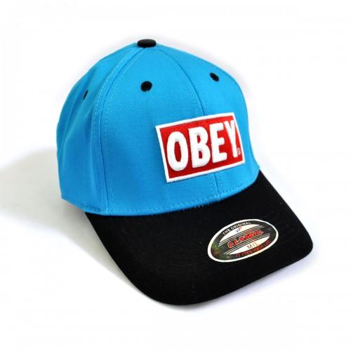 "Бейсболка ""OBEY"" (blue & black)"