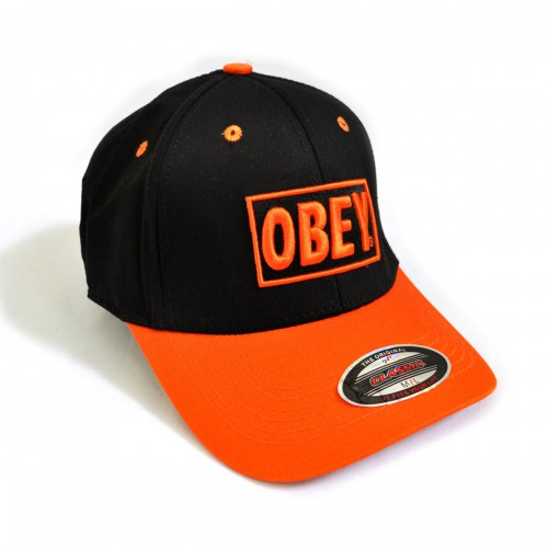 "Бейсболка ""OBEY"" (black & orange)"