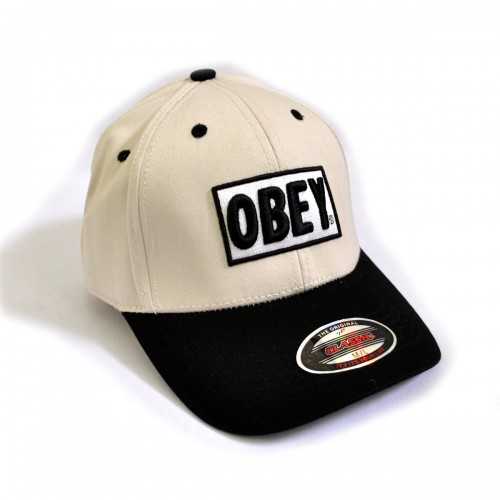 "Бейсболка ""OBEY"" (beige & black)"