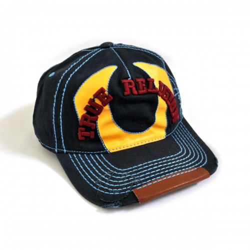"""Кепка-бейсболка с вышивкой """"True Religion"""" -3"""