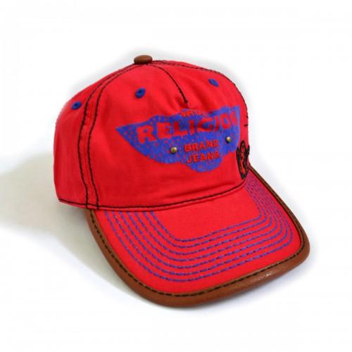"""Кепка-бейсболка с вышивкой """"Religion"""" (red)"""