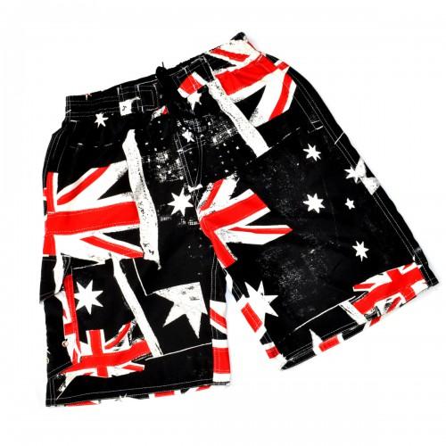 "Шорты ""Authentic"" (Британский флаг, black)"