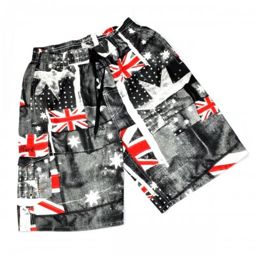 "Шорты ""Authentic"" (Британский флаг, gray)"