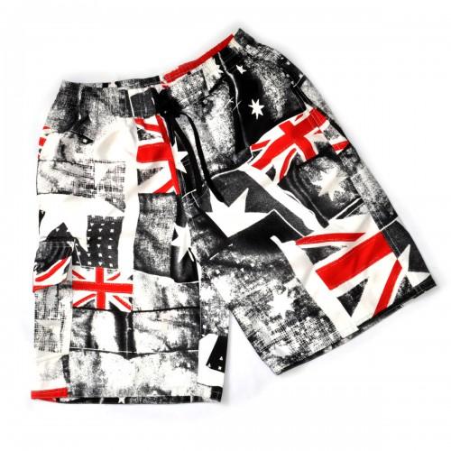 "Шорты ""Authentic"" (Британский флаг, l-gray)"