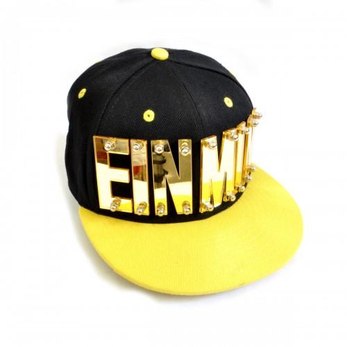 """Бейсболка 3D """"EINMIN"""", золото (black & yellow)"""