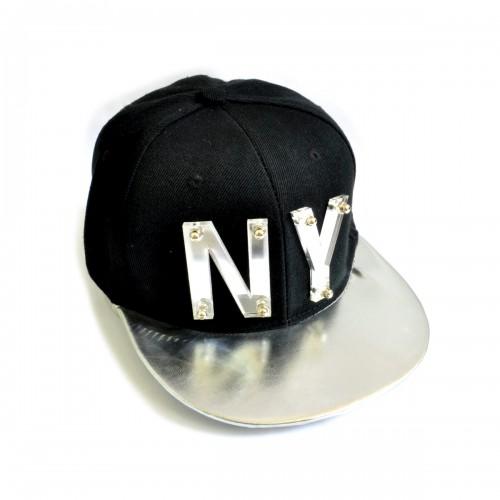 "Бейсболка 3D ""NY"" (black & silver)"