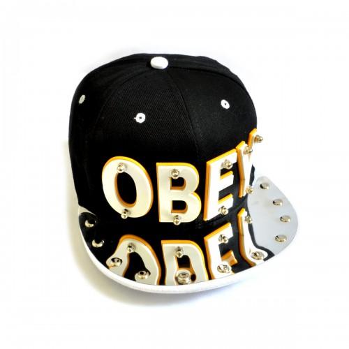 """Бейсболка 3D """"OBEY"""" (black & white)"""