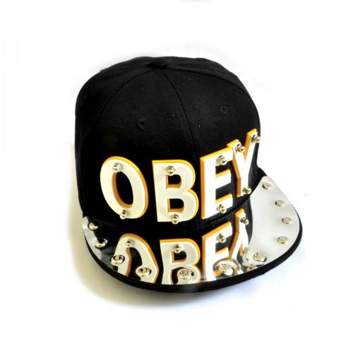 "Бейсболка 3D ""OBEY"" (black)"