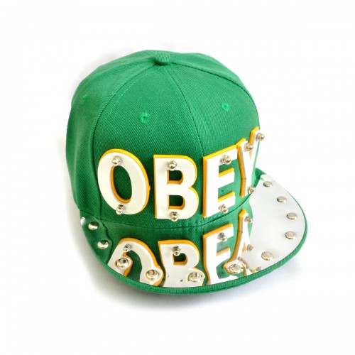 "Бейсболка 3D ""OBEY"" (green)"