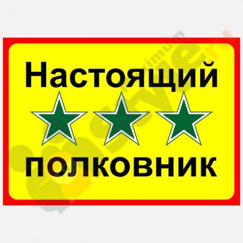 """Табличка на дверь """"Настоящий полковник"""""""