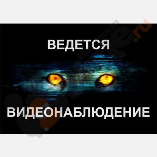 """Табличка на стену """"Ведется видеонаблюдение"""" (Глаза)"""