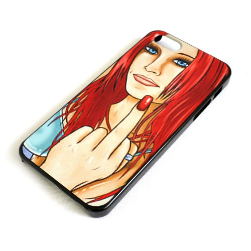 "Чехол для iPhone 5/5s ""Fuck"" (девушка)"
