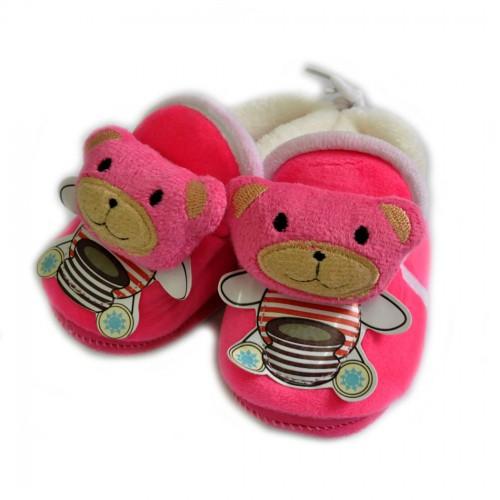 Тапочки-пинетки меховые для младенцев -05