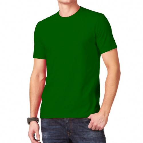 Футболка однотонная, классическая, цвет зеленый