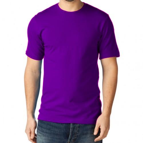 Футболка однотонная, классическая, цвет фиолетовый