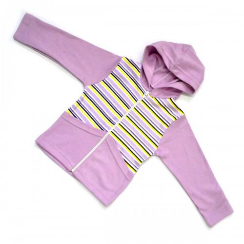 Кофта детская на молнии (light lilac) -03
