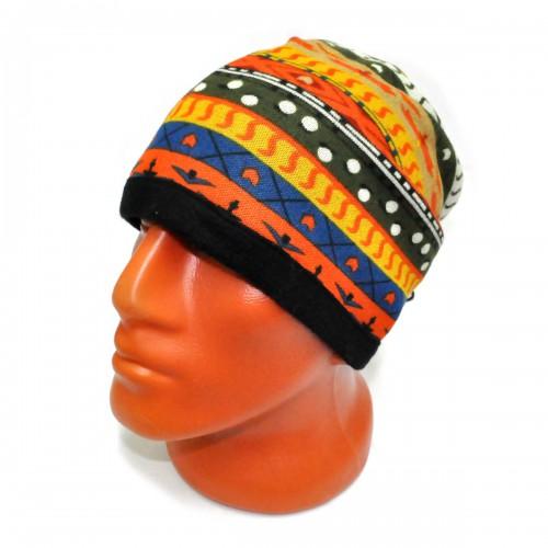 Шапка-шарф флисовый с орнаментом -23