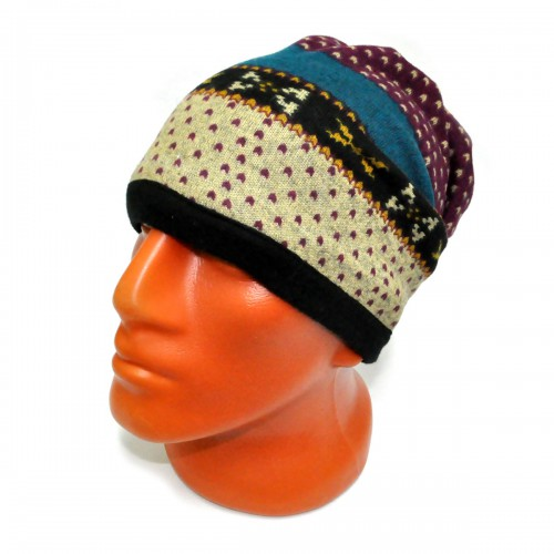 Шапка-шарф флисовый с орнаментом -24