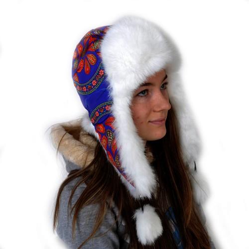Шапка-ушанка женская -10