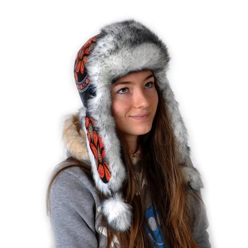 Шапка-ушанка женская -13