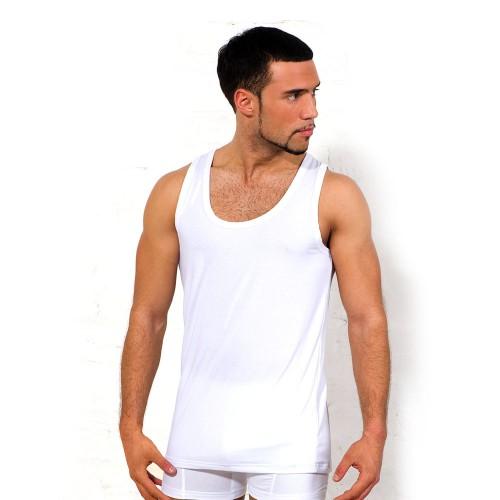 Майка мужская, классическая (цвет белый)