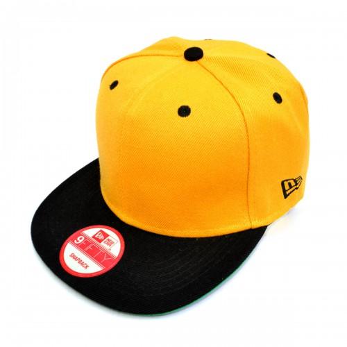 Бейсболка с прямым козырьком, New Era (yellow & black)