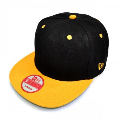 Бейсболка с прямым козырьком, New Era (black & yellow)