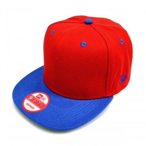 Бейсболка с прямым козырьком, New Era (red & blue)
