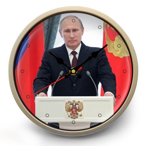 """Часы настенные """"Пресс-конференция Путина"""""""