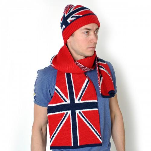"Комплект Шапка + шарф ""Британский флаг"" -1"