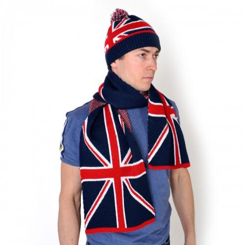 "Комплект Шапка + шарф ""Британский флаг"" -2"