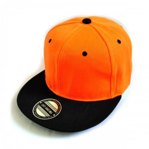 Кепка с прямым козырьком, оранжевая -01