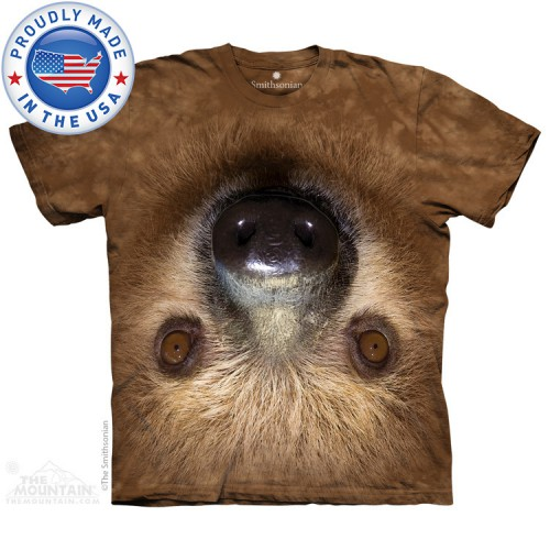 "Футболка детская ""Upside Down Sloth"" (Made in the USA)"