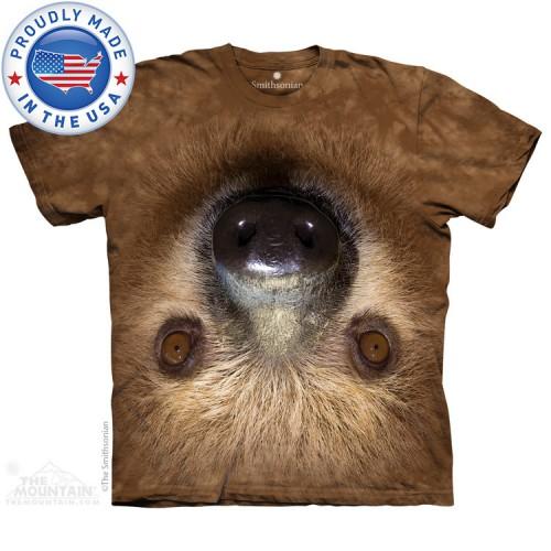 "Футболка детская ""Upside Down Sloth"" (Made in the USA)"