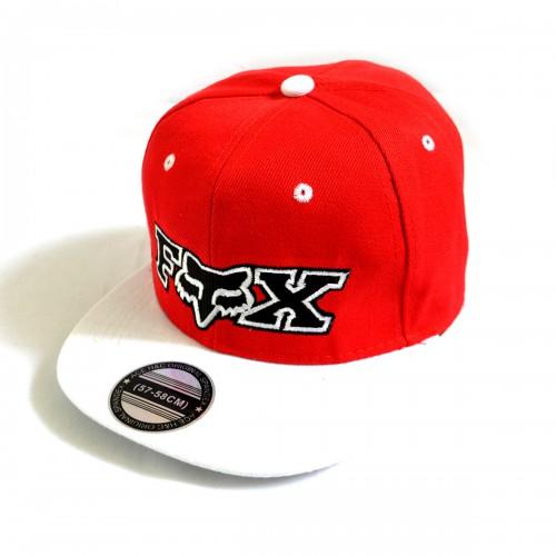 "Бейсболка рэперская ""FOX"" (red) -01"