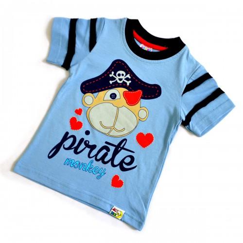 """Футболка детская """"Пират"""" (l.blue)-01"""