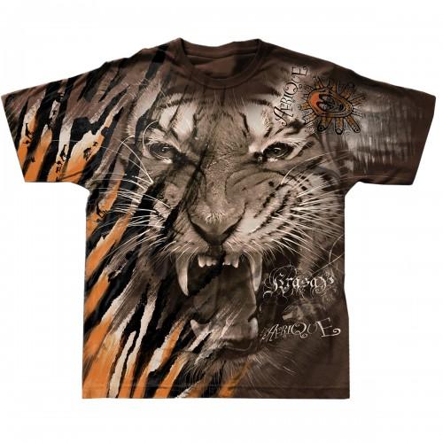 """Футболка тотальная, двусторонняя """"Африканский тигр"""""""