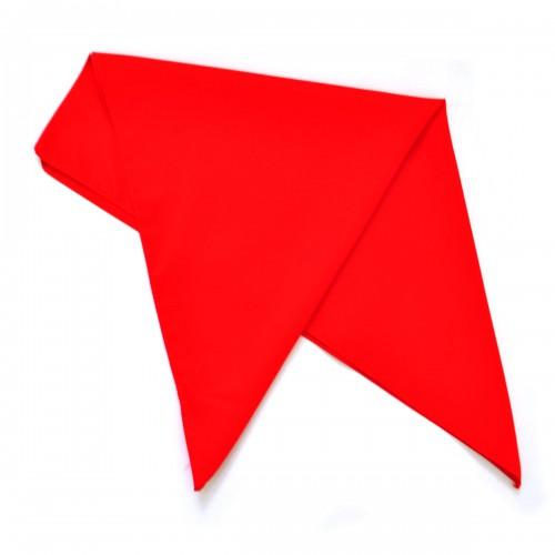 Бандана красная, шелковая (без изображения)