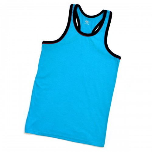 Майка-борцовка мужская (голубая)
