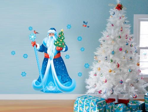"Наклейка на стену ""Дед Мороз"""