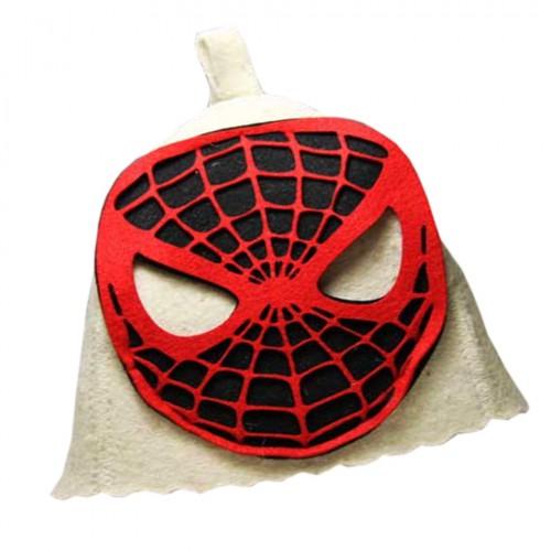 """Шапка банная детская с аппликацией, """"Человек-паук"""""""