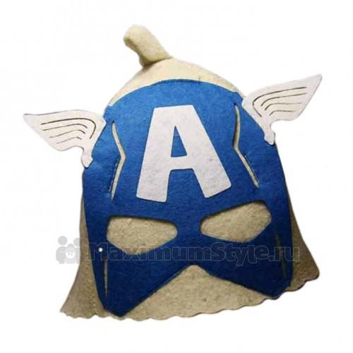 """Шапка банная детская с аппликацией, """"Капитан Америка"""""""