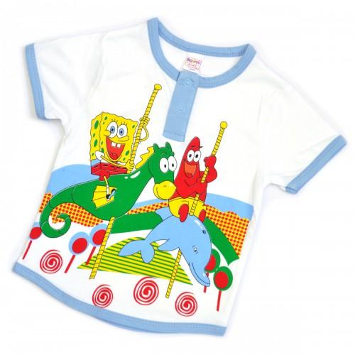 """Футболка детская на пуговицах """"Sponge Bob"""""""
