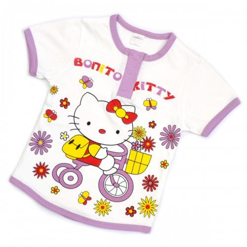 "Футболка детская на пуговицах ""Hello Kitty"""